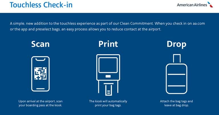 American Airlines Touchless Check-in
