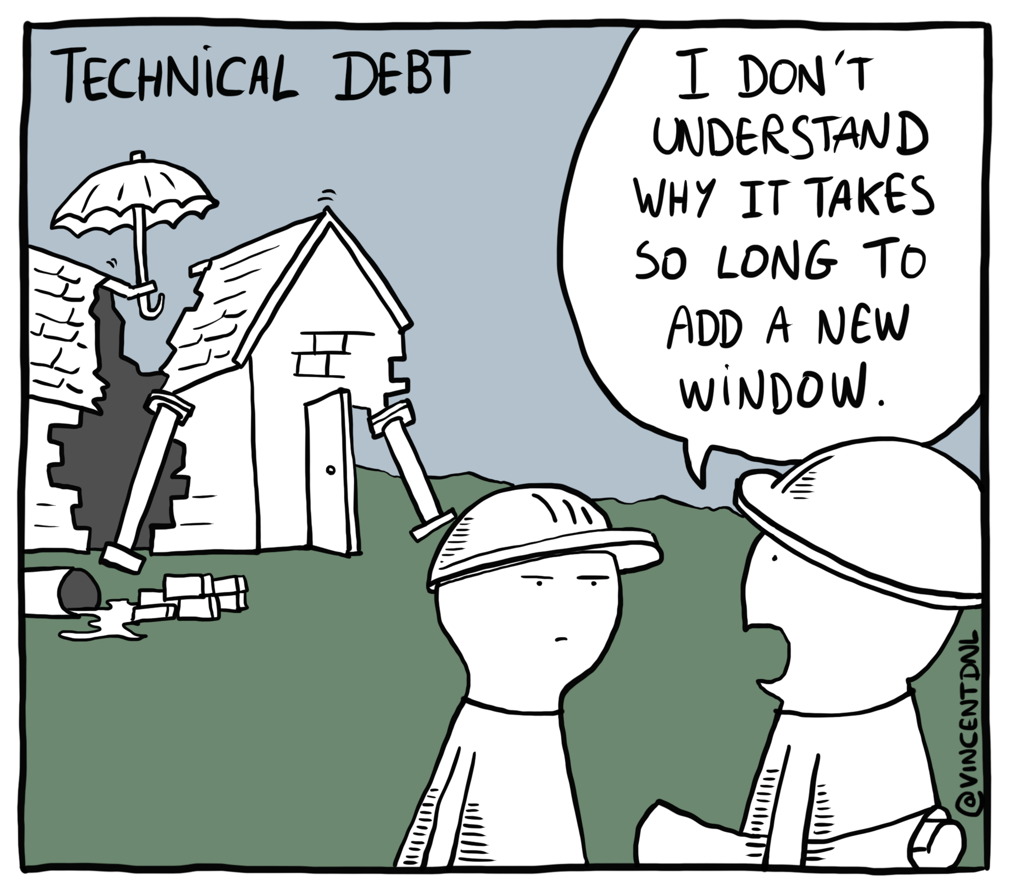 Technical Debt Comic by Vincent Déniel